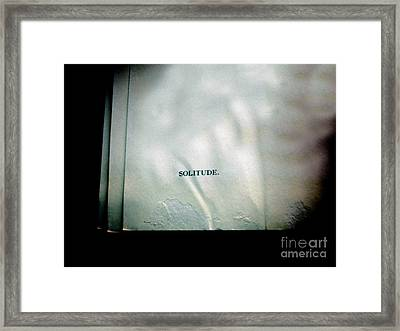 Solitude.  Framed Print by Steven  Digman