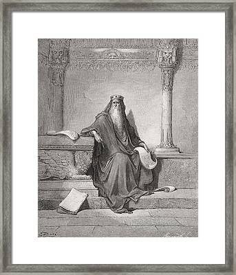 Solomon Framed Print by Gustave Dore
