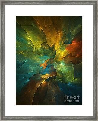 Somewhere In The Universe Framed Print by Klara Acel