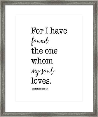 Song Of Solomon 3:4 Framed Print by Tara Moss
