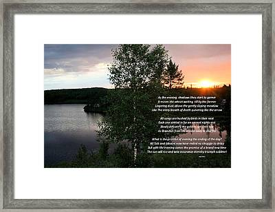 Songs Are Hushed Framed Print by Kathy J Snow