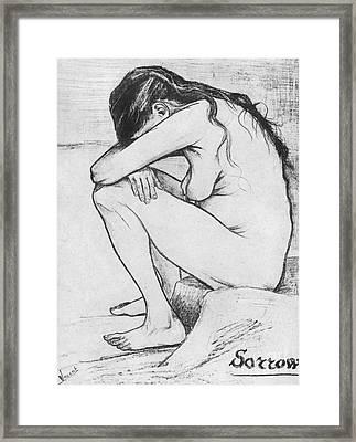 Sorrow  Framed Print by Vincent Van Gogh