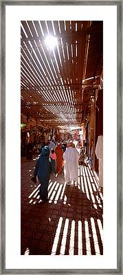 Souk, Marrakech, Morocco Framed Print by Panoramic Images