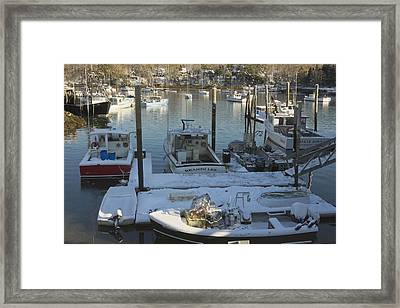 South Bristol And Fishing Boats On The Coast Of Maine Framed Print by Keith Webber Jr