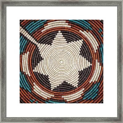 Southwestern Basket Detail Framed Print by Carol Leigh