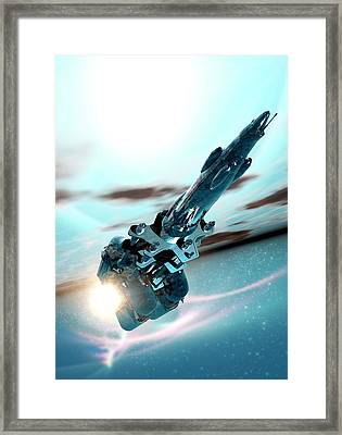 Space Craft Framed Print by Victor Habbick Visions