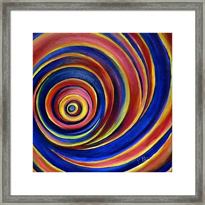 Spirals Framed Print by Art by Kar
