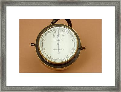 Spirometer Framed Print by Science Photo Library