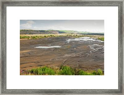 Spoil Left By Open Cast Coal Mining Framed Print by Ashley Cooper