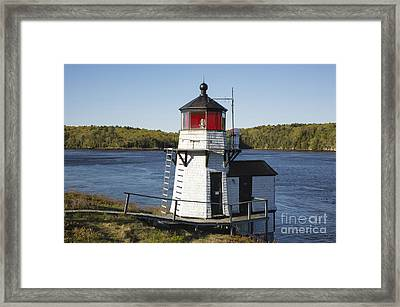 Squirrel Point Light - Arrowsic Island Maine Framed Print by Erin Paul Donovan