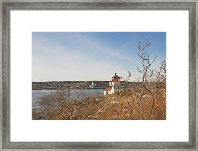 Squirrel Point Lighthouse Kennebec River Maine Framed Print by Keith Webber Jr