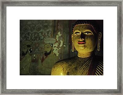 Sri Lanka, Dambulla, Dambulla Cave Framed Print by Stephanie Rabemiafara