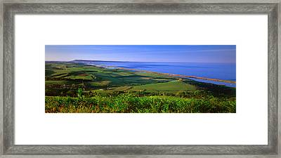 St Catherines Chapel And Abbotsbury Framed Print by Panoramic Images
