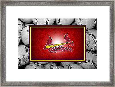 St Louis Cardinals Framed Print by Joe Hamilton