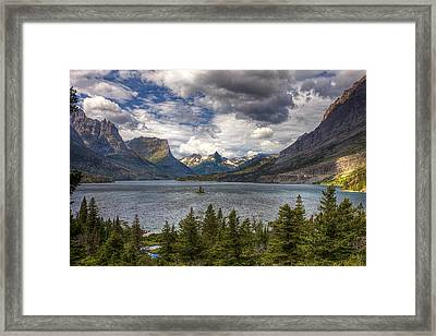 St. Mary's Lake Framed Print by Andrew Soundarajan
