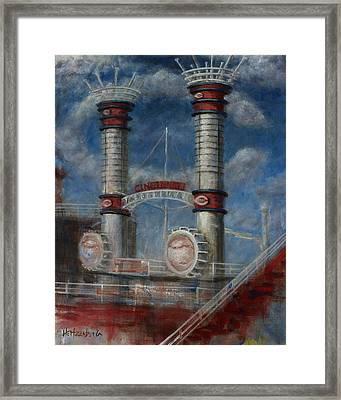 Stacks Framed Print by Josh Hertzenberg
