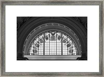 Stained Glass - Library Of Congress Framed Print by Mountain Dreams