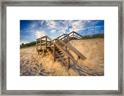 Stairway To Heaven Framed Print by Debra and Dave Vanderlaan