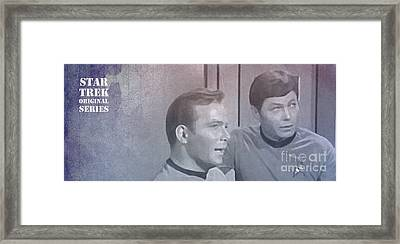 Star Trek Kirk And Mccoy Framed Print by Pablo Franchi