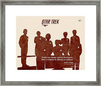 Star Trek Original - Captain Kirk Quote Framed Print by Pablo Franchi
