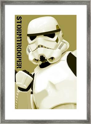Star Wars Stormtrooper Framed Print by Toppart Sweden