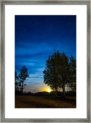 Starry Night Framed Print by Shelby  Young