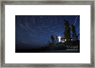 Stars Over Point Betsie Framed Print by Twenty Two North Photography