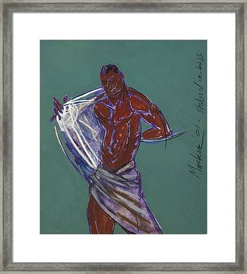 States Of Undress Framed Print by Deryl Daniel Mackie