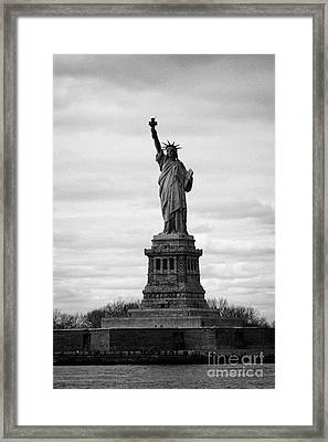Statue Of Liberty Liberty Island New York City Usa Framed Print by Joe Fox