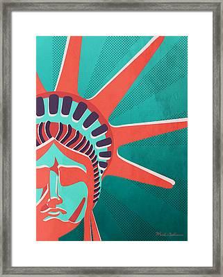 Statue Of Liberty  Framed Print by Mark Ashkenazi