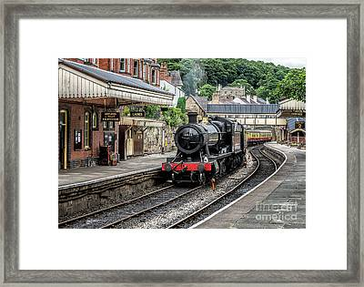 Steam Train Framed Print by Adrian Evans