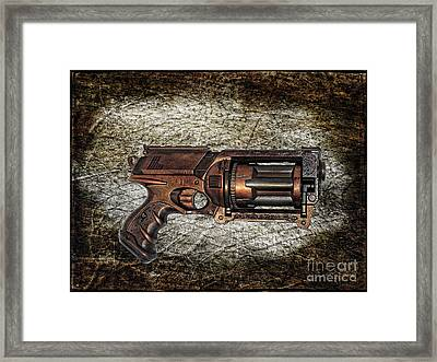 Steampunk - Gun - The Multiblaster Framed Print by Paul Ward