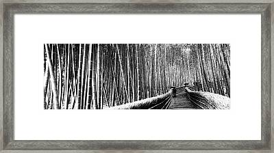 Stepped Walkway Passing Framed Print by Panoramic Images