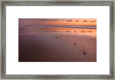 Steppin' Stone Framed Print by Bill Wakeley