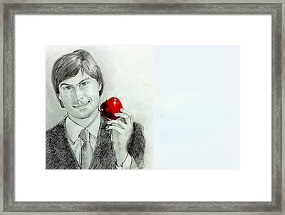 Steve Jobs Framed Print by Mayur Sharma
