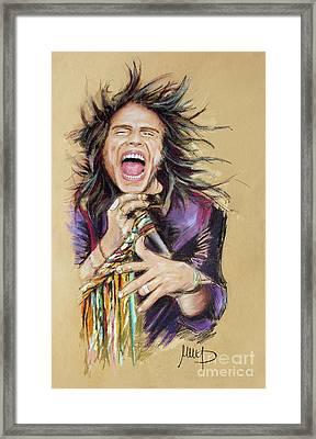 Steven Tyler  Framed Print by Melanie D