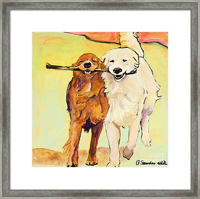 Stick With Me Framed Print by Pat Saunders-White