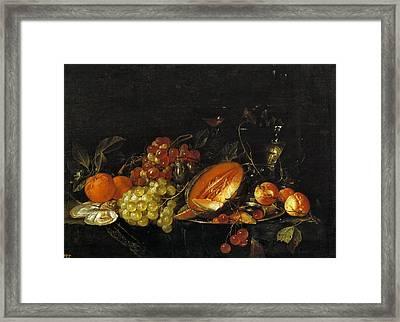 Still Life Framed Print by Cornelis de Heem