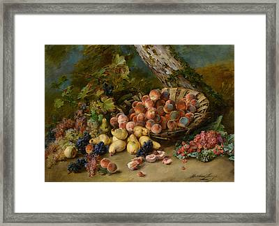 Still Life With Fruits Framed Print by Madeleine Jeanne Lemaire