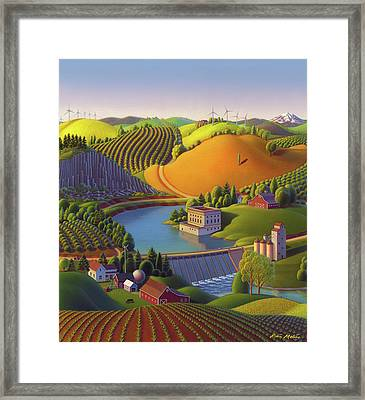Cultivated Framed Print featuring the painting Stone City West by Robin Moline