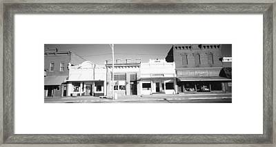 Store Fronts, Main Street, Small Town Framed Print by Panoramic Images