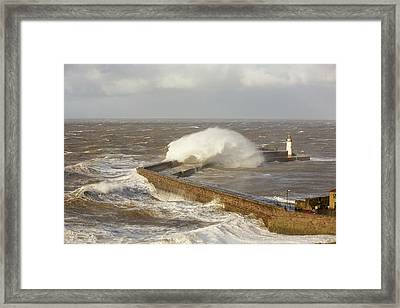 Storm Waves Framed Print by Ashley Cooper