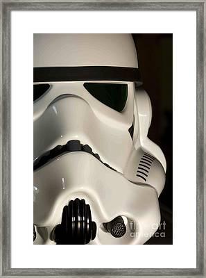 Stormtrooper Helmet Framed Print by Micah May
