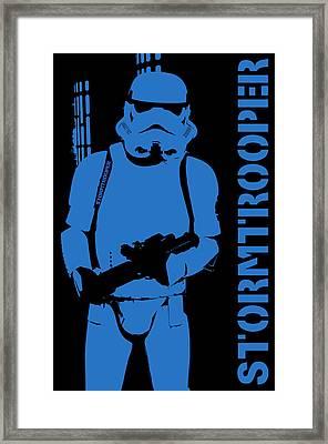 Stormtrooper Framed Print by Toppart Sweden