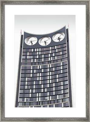 Strata Tower Framed Print by Ashley Cooper