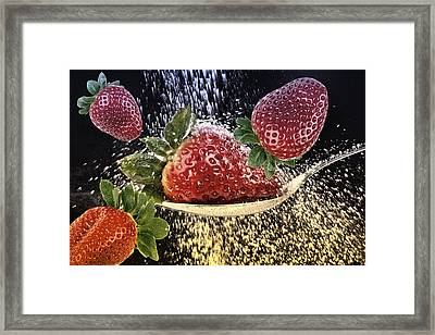 Strawberries Framed Print by Manfred Lutzius