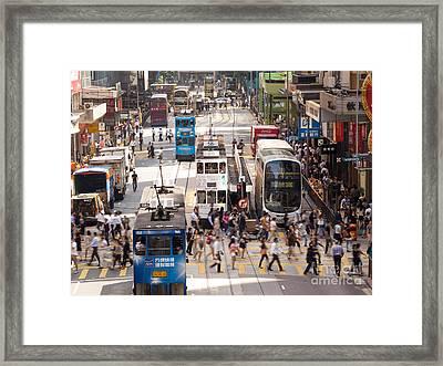 Street Scene In Hong Kong Framed Print by Matteo Colombo