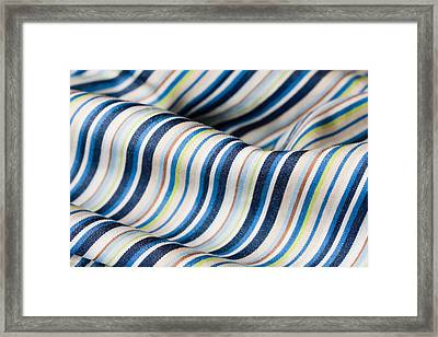 Striped Material Framed Print by Tom Gowanlock