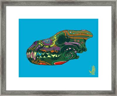 Sugar Wolf Framed Print by Nelson Dedos Garcia