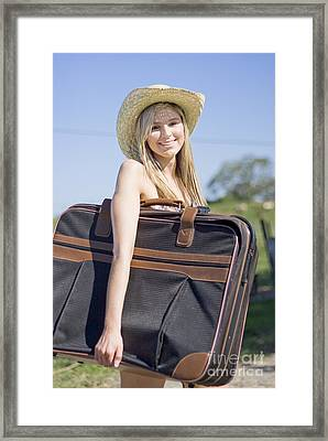 Summertime Travelling Tourist Framed Print by Jorgo Photography - Wall Art Gallery
